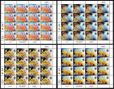 Niue WWF Giant Sea Fan 4 Full Sheets 16 sets SALE AT FACE VALUE