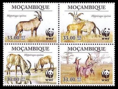 Mozambique WWF Roan Antelope 4 stamps in block 2*2 SC#1930 MI#3658-61