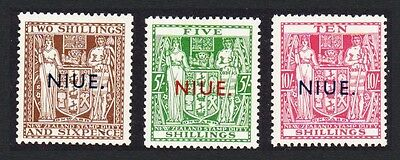 Niue Fiscal Stamps of New Zealand Overprinted issue 1944-45 3v Mixed SG#83/85