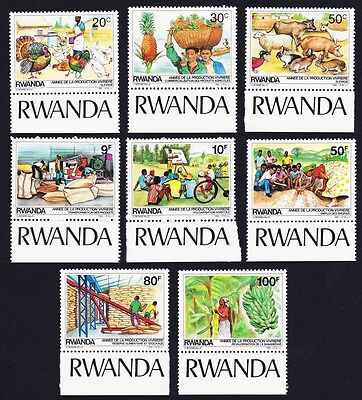Rwanda Food Production Year 8v Bottom Margins with inscript SG#1224/31