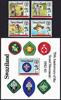 Swaziland 75th Anniversary of the Boy Scout Movement 4v+MS SG#416/MS420