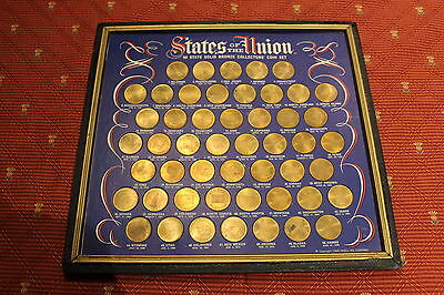 States Of The Union 50 State Solid Bronze Collectors Coin Set, 1969 Shell Oil