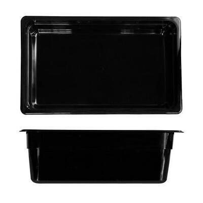 6x Bain Marie Tray / Black Polycarbonate Food Pan Gastronorm 1/1 Size 150mm Deep