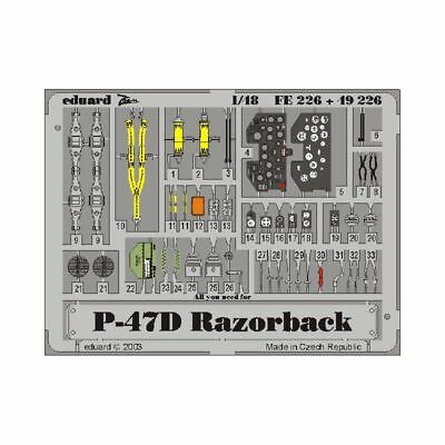 Eduard 49226 P-47D-20 1/48 Recommended For Kit: Tamiya