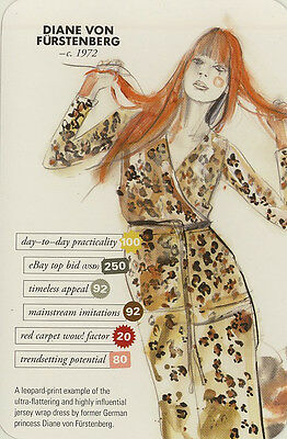 Swap Trade Card: Diane Von Fürstenberg. New. Fashion.