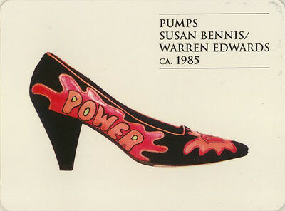 Single Swap Game Card: Susan Bennis/Warren Edwards Shoes. Fashion.