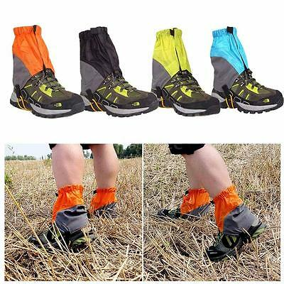 2x Waterproof Outdoor Hiking Walking Climbing Hunting Snow Legging Gaiters X7D4