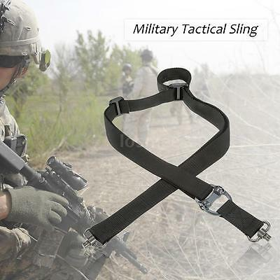 Military Tactical Safety Two Points Belt QD Series Sling Adjustable Strap M4D9