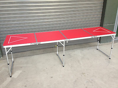 Portable Beer Pong Table - Full Size 240Cm - Indoor Outdoor Drinking Game