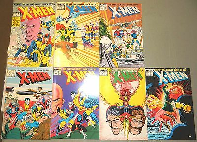 The Official Marvel Index To The X-Men 1 2 3 4 5 6 7 Set Full Covers Comics