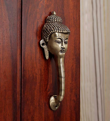 Buddha Door / Cupboard Cabinet Handle Puller Buddhism Brass Tibet Home Decor