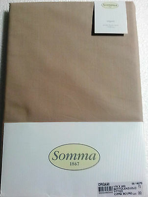 SOMMA 1867 sottolenzuolo con angoli farbe PUDER DUNKELHEIT Made in Italy