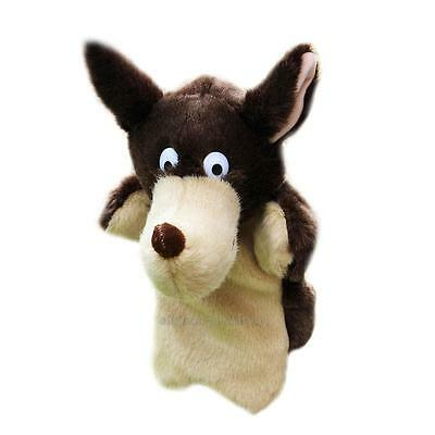 New Wolf Hand Puppet Baby Kids Child Soft Doll Plush Toy Gift