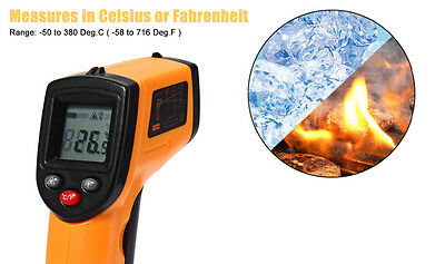 2016 New Non-Contact LCD IR Laser Infrared Digital Temperature Thermometer Gun