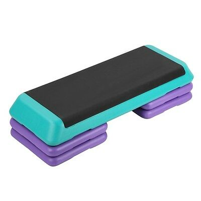NEW 3-Level Everfit Fitness Aerobic Home Gym Workout Exercise Step Purple Green