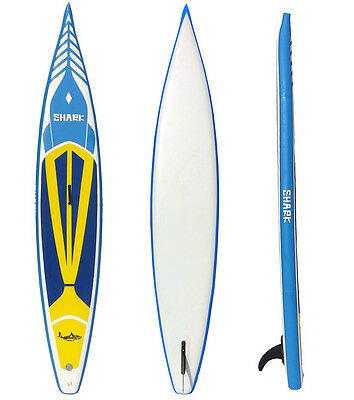 "Shark SUPs 14'*25"" iSUP racing stand up paddle board w/standard package"