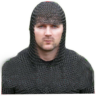 Chainmail Coif Chain Mail Hood Chain-Mail Costume for Medieval drama role-play