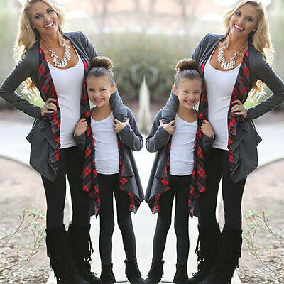 Family Outfits Clothing Mother Daughter Cardigan Sweater Outwear Jacket Fasion
