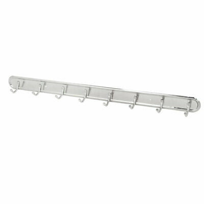 Robe Coat Hat Stainless Steel Wall Mounted 8 Hook Hanger Rail Rack