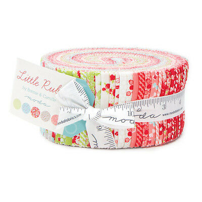 Quilting Fabric Jelly Roll - Moda - Little Ruby