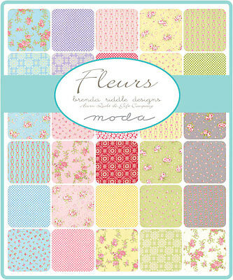 Patchwork/quilting Fabric Moda Charm Squares/packs - Fleurs