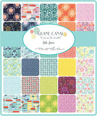 Patchwork/quilting Fabric Moda Charm Squares/packs - Grand Canal
