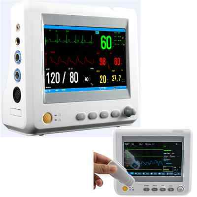 "7"" Color Patient Monitor EKG/NIBP/RESP/TEMP/PR Patientenmonitor Vital Sign CE!"