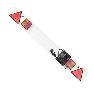"""Trailer/towing light board """"4 foot"""" with 4 metres of cable 7pin 12N wired"""