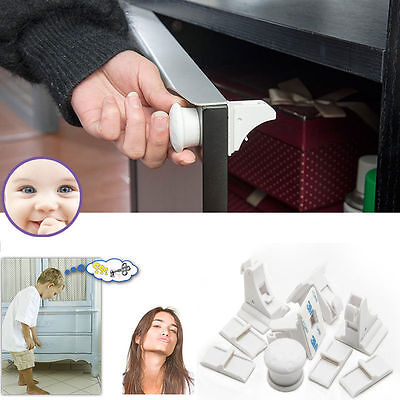 Magnetic Baby Child Toddler Kids Pet Proof Cupboard Cabinet Drawer Safety Lock