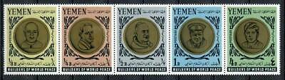29723) YEMEN 1966 MNH** Nuovi** Pope John XXIII, Kennedy strip of 5