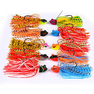 10pcs Lot Spinnerbaits Fishing Lures Bass Jigs hooks Bait Tackle Spinner 8cm 13g