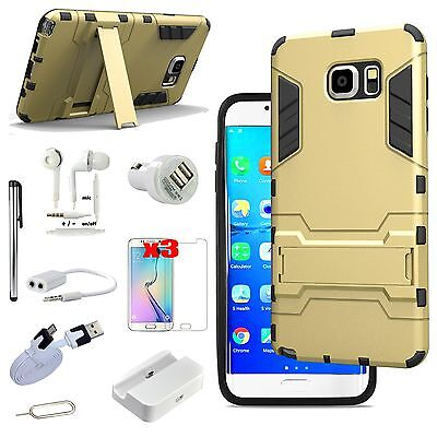 Case Charger Screen Protector Earphones Kit For Samsung Galaxy S6 Edge Plus