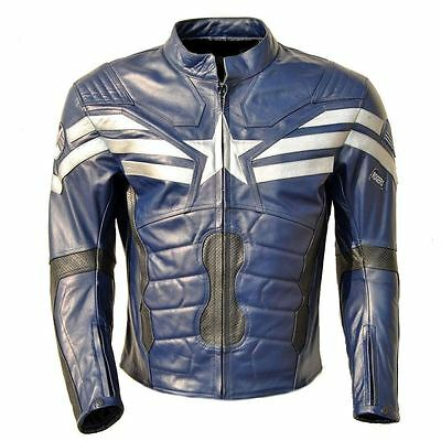 Celebrita Italy Men's American Captain Style Leather Jacket with CE Armor