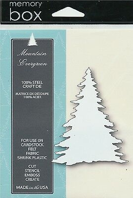 "Memory Box Die Mountain Evergreen 2.7x3.8"" Stanzschablone Tannenbaum 6,9x9,7 cm"