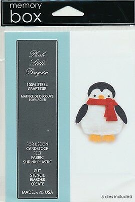 "Memory Box Die Plush Little Penguin 1.7x2.3"" Stanzschablone Pinguin 4,3x5,8 cm"