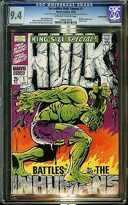 Incredible Hulk Annual #1 CGC 9.4 NM Marvel Double Cover Inhumans Friedrich