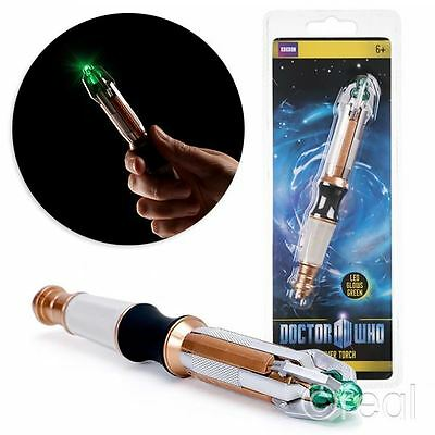 New Doctor Who 11th/12th Dr Sonic Screwdriver LED Torch Flashlight Official