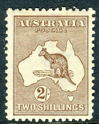 AUSTRALIA-1916 2/-Brown.  A mounted mint example Sg 41
