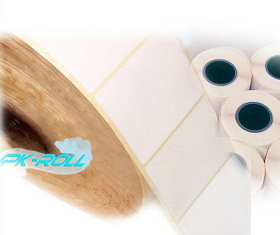 Self Adhesive White Sticky Labels Thermal Transfer rolls 102mmX 76mm 4x3 inch..