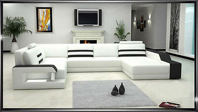 MILAN 1 - Canape cuir  6 places 272x359x187
