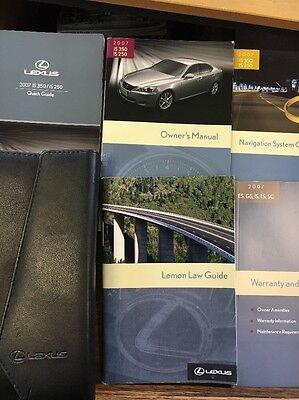 2007 Lexus Owner's Manual LS350 LS250 - Quick Guide, Case, etc  - USA version