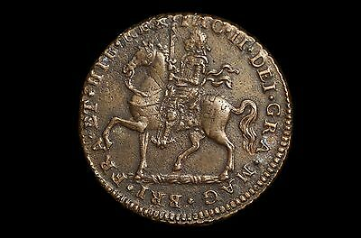 "Ireland, James Ii Crown 1690 ""gunmoney"""