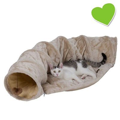 zoolove Cat Tunnel & Cushion Set Cat kitten Tunnel & Cushion Toy Bed sleep