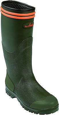Percussion Stronger Waterproof Wellington Welly Shooting Hunting Boots Green New