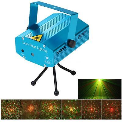 Mini LED Laser Projector Stage Lighting Effect Patterns Disco Party Club