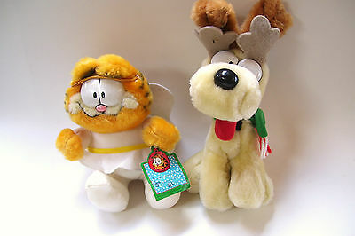 1978 Garfield and Odie McDonalds Plush Christmas Ornament Gift