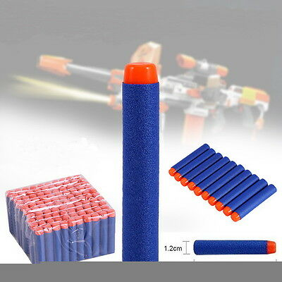 400pcs For NERF Bullet Darts N-Strike Kids Toy Gun Round Head Blasters Blue