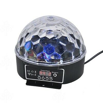 LED RGB Crystal Magic Ball Effect light DMX Party Disco DJ Stage Lighting
