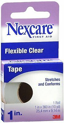 Nex Care First Aid Flexible Clear Tape 1 Inch X 10 Yards