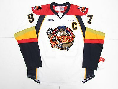 CONNOR McDAVID ERIE OTTERS OHL WHITE CCM PREMIER 7185 HOCKEY JERSEY